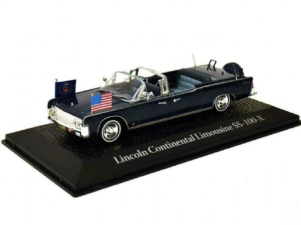 ATLAS 1/43 Lincoln Continental Limo SS-100-X JFK 1963 Assassination Pres Kennedy